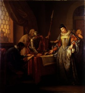 The Abdication of Mary Queen of Scots, by Gavin Hamilton (1723-1798), painting, oil on canvas, Hunterian Art Gallery, University of Glasgow